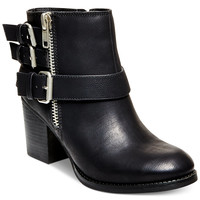 Madden Girl Wickerr Mid-Heel Buckle Booties