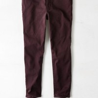 AEO Women's Denim X Hi-rise Jegging Crop (Raisin Wine)