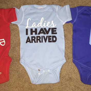 Boy Onesuits -  Body Suit - Glitter  - Onesuit - Ruffles with Love - Baby Clothing - RWL - Football Helmet - Tie - Ladies I have Arrived