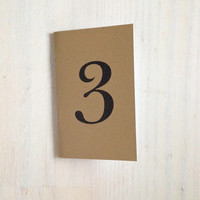 Small Notebook: Number, Reception Table Numbers, Wedding Notebooks, Table Numbers, Kraft, Natural, Wedding, Gift, Unique, Notebook, Journal