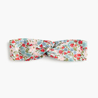 Cotton headband in Liberty® Poppy & Daisy floral