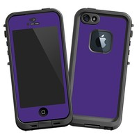 Deep Purple Skin  for the iPhone 5 Lifeproof Case by skinzy.com