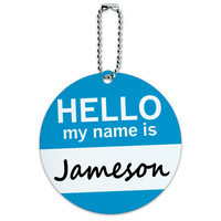 Jameson Hello My Name Is Round ID Card Luggage Tag