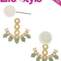 Peek-a-boo Pearl Double-Sided Ear Jackets as seen in Life & Style Magazine