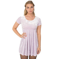 American Apparel Stretch Velvet Pink Babydoll Dress   Overstock.com Shopping - The Best Deals on Casual Dresses