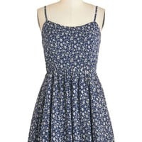 ModCloth Festival Short Length Spaghetti Straps A-line Moonlight Dancer Dress