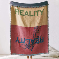 UO Artist Series Reality Woven Throw Blanket | Urban Outfitters
