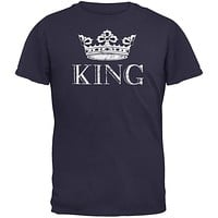 KING Navy Adult T-Shirt
