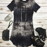 It's Only the Beginning Tunic Dress: Navy