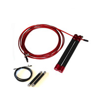 UIC-JR06 Red,Silver Speed Jump Rope Ball Bearing Metal Handle Skipping,Stainless Stel Cable Crossfit Fitness Equipment