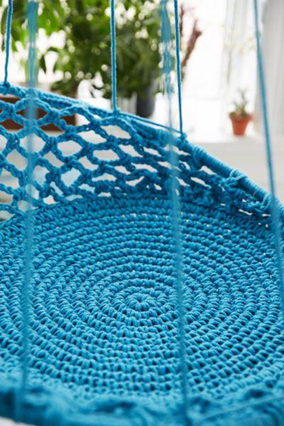 Cuzco Hanging Chair Turquoise One From Urban Outfitters