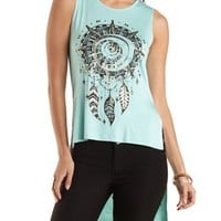 Dreamcatcher Graphic High-Low Tank Top by Charlotte Russe
