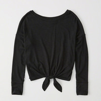 Womens Tie-Front Dolman Top | Womens Tops | Abercrombie.com