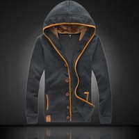 Men Hoodies Long Sleeve Hats Men's Fashion Jacket [6528874051]
