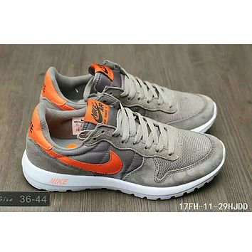 Nike MAX 90 ULTRA AIR and waffle new men and women sports shoes F-HAOXIE-ADXJ Gray + orange hook