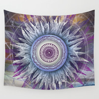 Crown Chakra (II) Wall Tapestry by Brenda Erickson