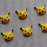 Character Flatback Resin Cabochons - 6 pieces