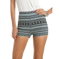 HIGH WAISTED PONTE TRIBAL SHORT