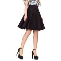 GD112 NEW Celebrity Fashion Womens Vintage Retro High Waist Skirts Dusty Pink Knee Length A-line Flared Full Swing Skirt New