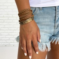 Ties That Bind Wrap Bracelet in Brown