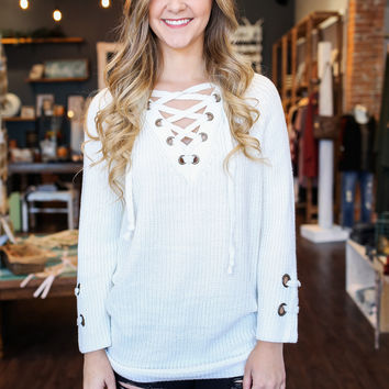 Entwined Sweater - Ivory