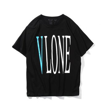 European and American youth spring and summer fashion VLONE LIFE spring and summer T-shirt trend casual letter Vlone cotton short sleeve