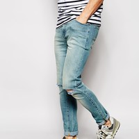 ASOS Super Skinny Jeans With Knee Rips