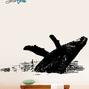 Vinyl Wall Decal Sticker Humpback Whale Jumping #527