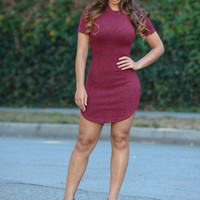 Rebecca Dress - Burgundy