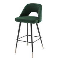 Green Velvet Bar Stool | Eichholtz Avorio