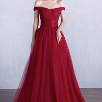 Pamella Off-the-Shoulder Ball Gown