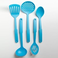 Cook's Corner 5-Piece Nylon Kitchen Utensil Set (Aqua)