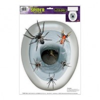 Spider Toilet Topper Peel 'N Place Party Accessory (1 count) (1/Sh)