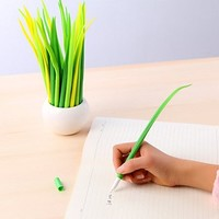 MiiSii(TM) 12pcs Cute Novelty Cartoon Grass Refill Gel Ink Rollerball Pens Set Gifts Prizes For School Girls Students + FREE GIFT