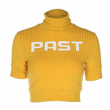 Gold Past Cropped Turtleneck