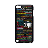 the beatles typography song lyric iPod Touch 5 Case