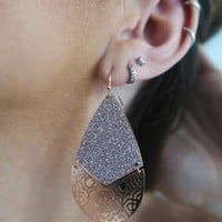 After Party Earrings: Rose Gold