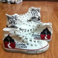 Sleeping With Sirens Shoes-Free Shipping, Hand Painted Shoes