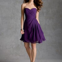 Draped Chiffon Bridesmaid Dress | Style 31032 | Morilee