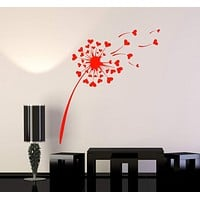 Vinyl Wall Decal Dandelion Love Romance Flowers Girl Room Stickers Mural Unique Gift (050ig)