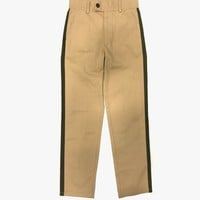 Cropped Side Stripe Chino