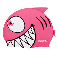 Sporti Cartoon Shark Silicone Swim Cap Jr. at SwimOutlet.com