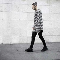 t-shirts tyga swag striped long sleeve  extended west