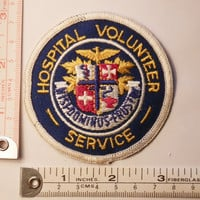 Hospital Volunteer Service Sew-On Patch