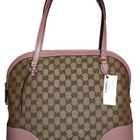 Gucci Handbag - Bree Original GG Canvas/Leather Bag - Pink Color - Model #449243