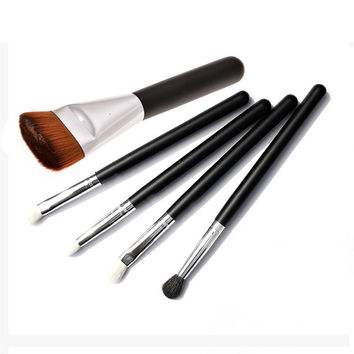 5 pcs/Set Makeup Brushes 1 Foundation+ 4 Goat Hair Eyeshadow Brushes Professional Makeup Tools