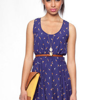 Dandelion Dress in Dark Blue :: tobi