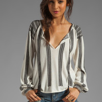Torn by Ronny Kobo Madeleine Knit Top in Black from REVOLVEclothing.com