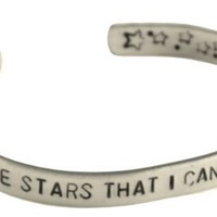 The Fault in Our Stars Bracelet - My Thoughts Are Stars - 1/4-inch Aluminum Cuff