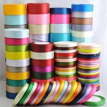 Hot! 25Yard Satin Bow Embellishment Party Craft Ribbon 6mm 10mm 12mm 15mm 20mm [7983578823]